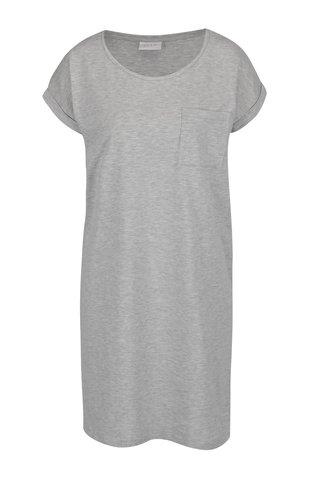 Světle šedé volné šaty s kapsou VILA Dreamers