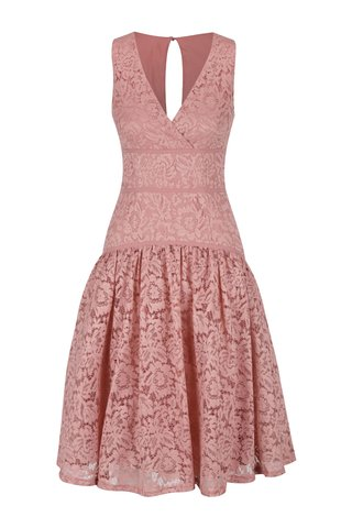 Rochie roz pal din dantela Little Misstress