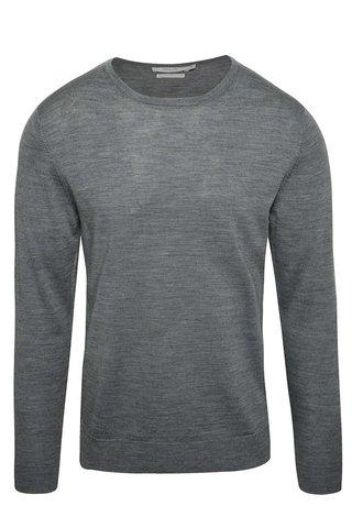 Šedý svetr z Merino vlny Jack & Jones Premium Mark