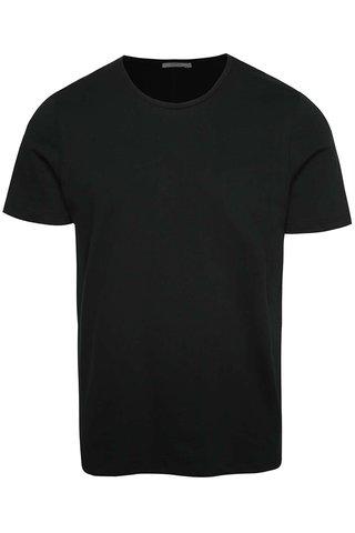 Černé basic tričko pod košili Jack & Jones Hugo