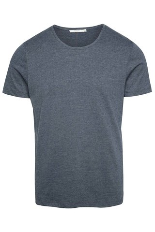 Šedomodré basic tričko pod košili Jack & Jones Hugo