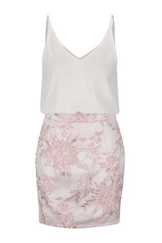 Rochie mini alb&roz Ax Paris cu aspect 2in1