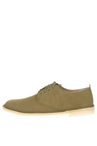 Pantofi verde deschis Clarks Desert London