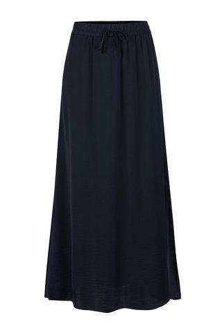 Tmavě modrá maxi sukně s rozparky VILA Melli