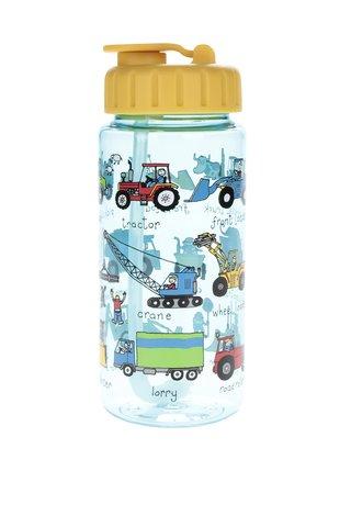Modro-žlutá klučičí lahev na pití Tyrrell Katz Working Wheels