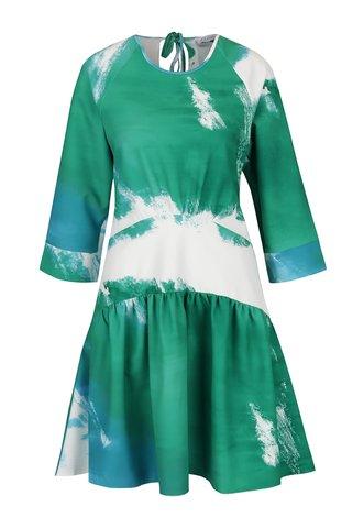 Rochie crem cu verde Closet cu talie joasa