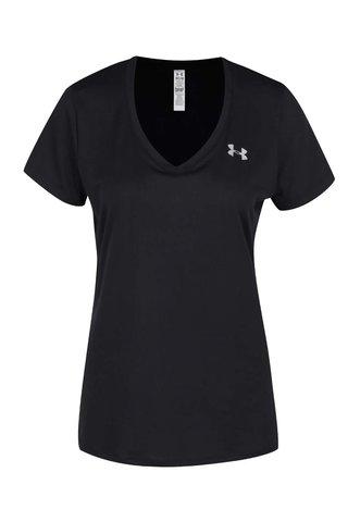 Tricou negru femei Under Armour Solid cu print