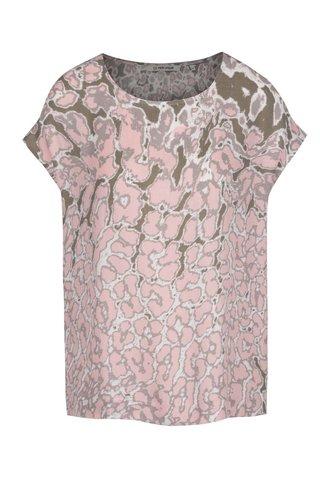 Top roz & verde inchis Rich & Royal cu model si croi lejer