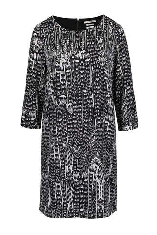 Rochie gri & negru Rich & Royal cu model si maneci trei sferturi
