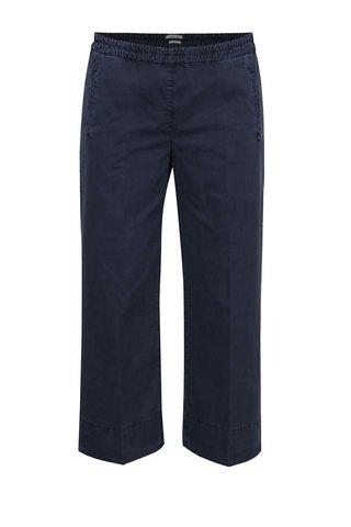 Pantaloni albastru inchis Rich & Royal cu talie elastica si croi lejer