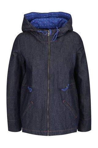 Jacheta albastru inchis din denim Tranquillo Jorun cu gluga