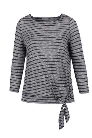 Bluza gri & bleumarin M&Co cu model in dungi