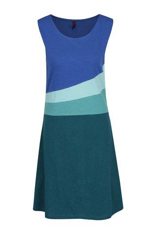 Rochie albastru & verde Tranquillo Tilda din bumbac organic cu model