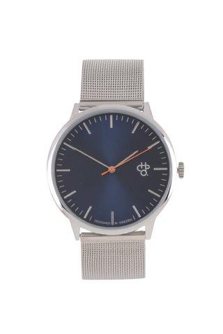 Unisex hodinky ve stříbrné barvě CHPO Nando Navy Silver