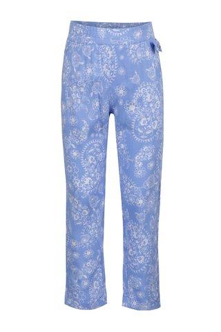 Pantaloni albastri cu imprimeu North Pole Kids pentru fete