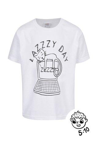 Tricou alb de baieti ZOOT Kids Lazy day