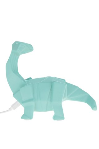 Lampa LED turcoaz Disaster in forma de dinozaur