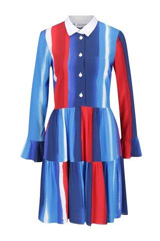 Rochie-camasa multicolora cu maneci clopot Closet