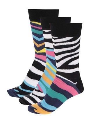 Set de 3 sosete cu zebra print multicolor Oddsocks Wesley