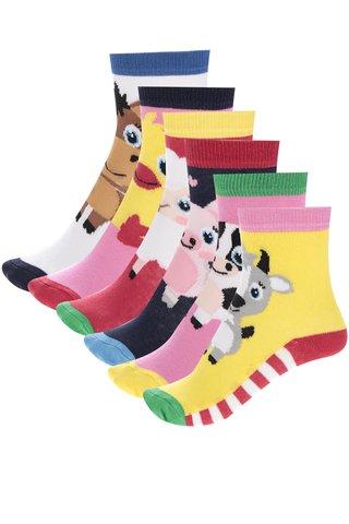 Sada šesti dětských ponožek s motivy zvířátek Oddsocks Pen