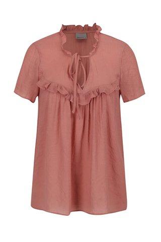 Bluza roz pal cu volane VERO MODA Mandy