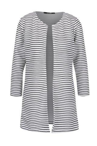Černo-bílý žebrovaný pruhovaný kabát Haily´s Sandria