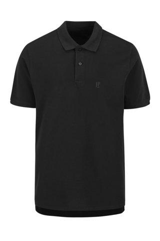 Tricou polo negru JP 1880 cu slituri laterale