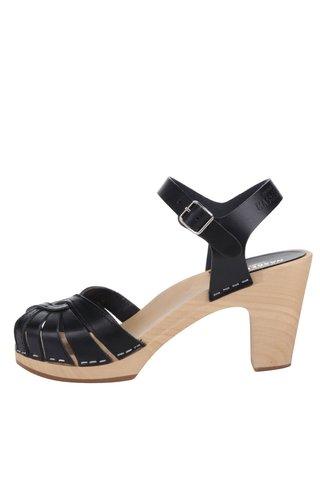 Sandale-sabot din piele cu toc Swedish Hasbeens Fredrica
