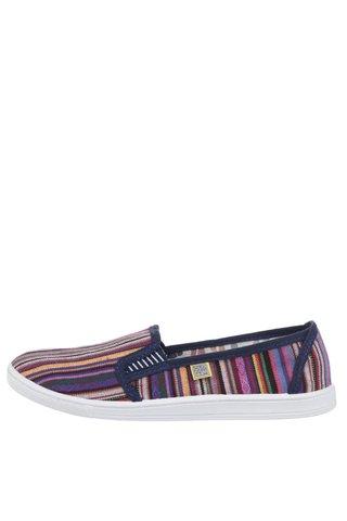Pantofi slip-on mov cu model pentru femei Oldcom Etno
