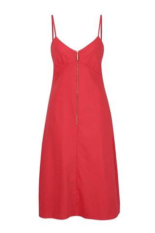 Rochie rosie cu bretele subtiri - Closet
