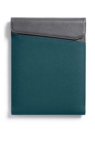 """Husa verde & gri Bellroy Laptop Sleeve Extra 13"""" cu detalii din piele"""