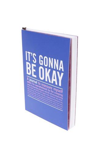 Agenda jurnal albastra Knock Knock cu citate