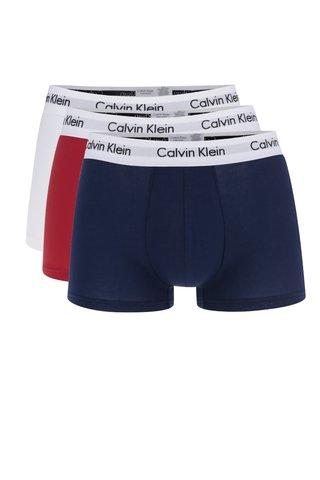 Set de 3 de boxeri alb/albastru/rosu Calvin Klein