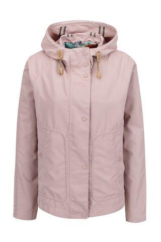 Starorůžová dámská krátká bunda s kapucí Geox
