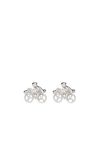 Butoni argintii CGB in forma de ciclisti