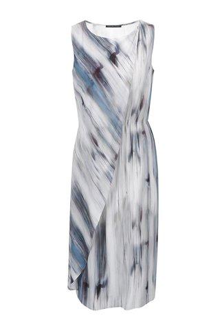 Rochie albastru & gri Pietro Filipi cu model