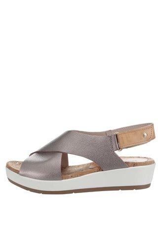 Sandale argintii  Pikolinos Mykonos din piele