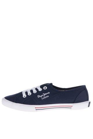 Pantofi sport albastru inchis Pepe Jeans  Aberlady Fishnet