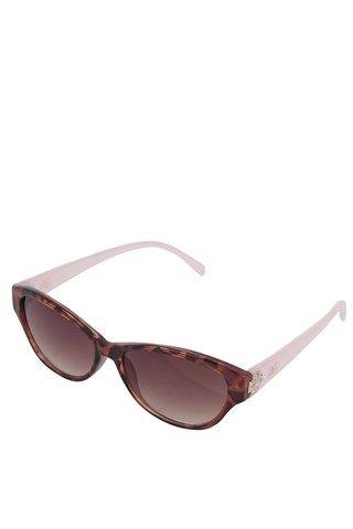 Ochelari de soare maro Gionni cu rama roz si model