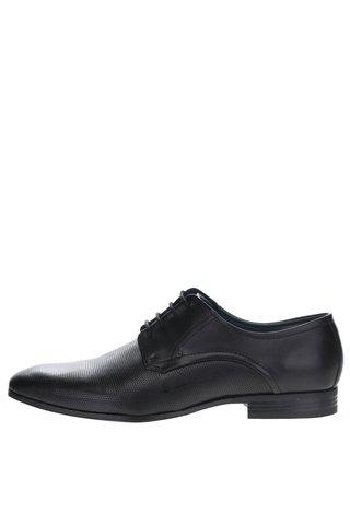 Pantofi negri cu perforatii din piele naturala - bugatti Mattia