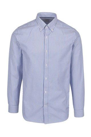 Camasa alb&albastru cu dungi Selected Homme Done din bumbac