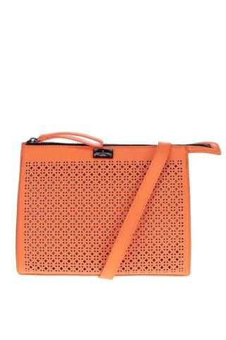 Geanta crossbody portocaliu neon cu perforatii Paul's Boutique Mia