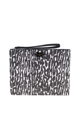 Geanta plic cu animal print negru&alb Paul's Boutique Stephanie