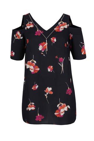 Bluza cold shoulder cu imprimeu floral Dorothy Perkins Curve