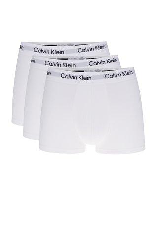 Set 3 boxeri albi cu print - Calvin Klein