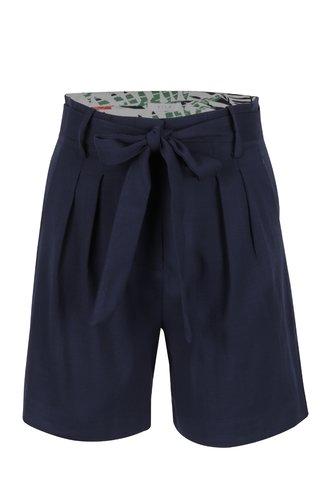 Pantaloni scurti bleumarin VILA Mela cu cordon in talie