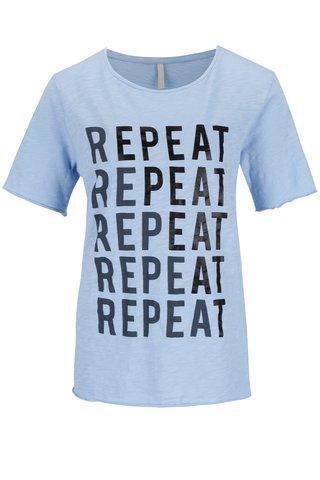 Modré tričko s potiskem YAYA