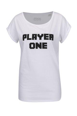Tricou alb de dama ZOOT Originál Player one cu print