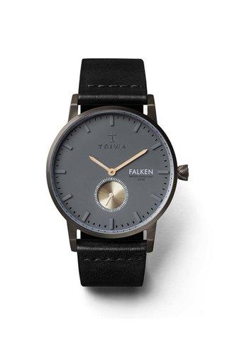 Ceas unisex negru&argintiu TRIWA Walter Falken