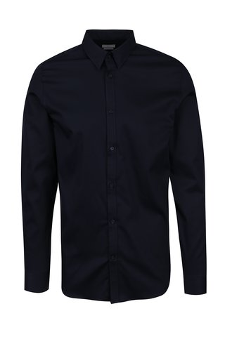 Camasa slim fit bleumarin din bumbac Selected Homme Done